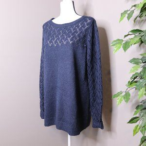 Maurices Pointelle Pullover Knit Sweater